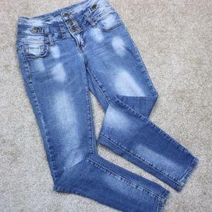 Hot kiss light waist high rise jeans size 5